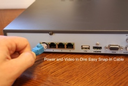 Cat5 Plug and Play POE with Admiral NVRs