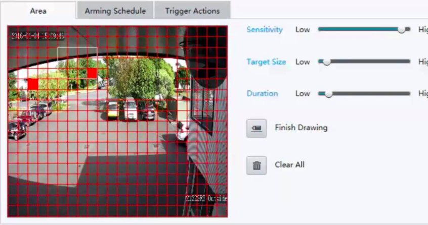 Motion Detection Settings