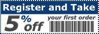 five percent off coupon