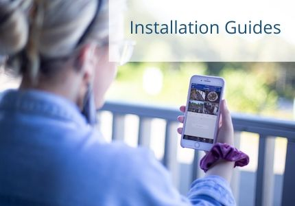 security camera and alarm installtion guides