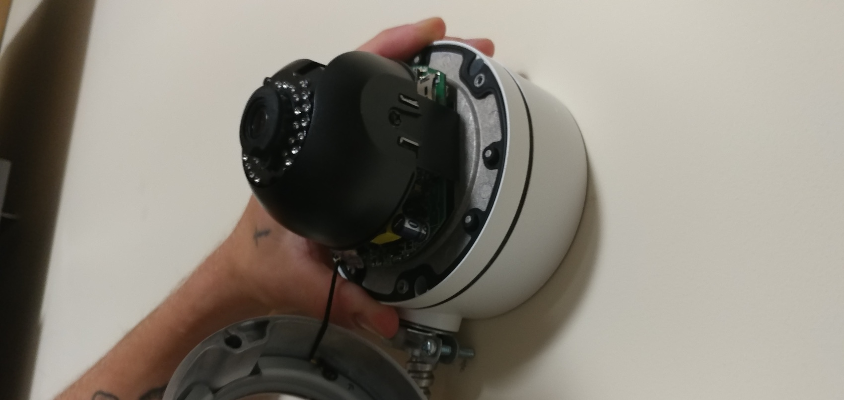 mount camera to electrical box