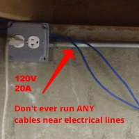 avoid electrical lines