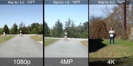 1080 vs 4mp vs 4k 75 foot distance
