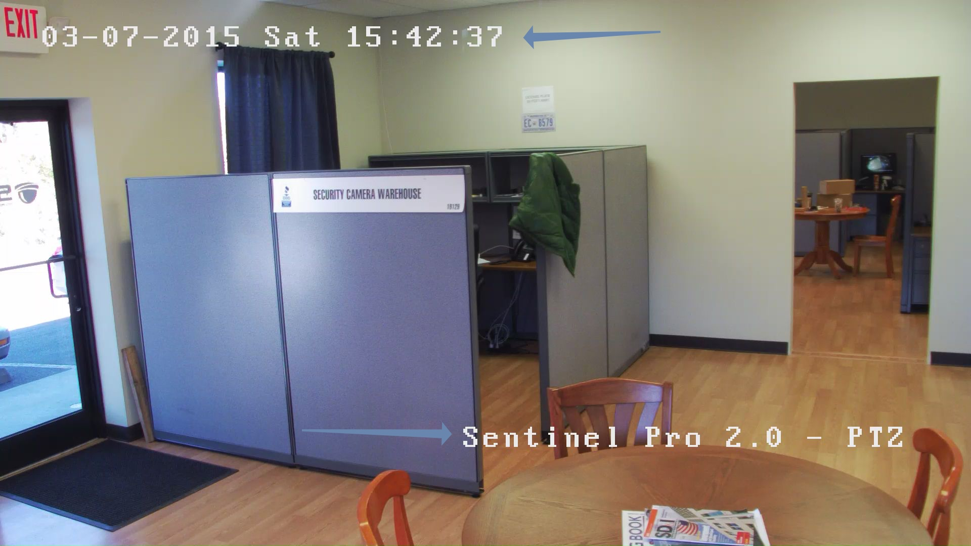 real security camera footage has text overlays