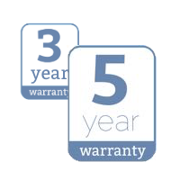 3 to 5 year warranty