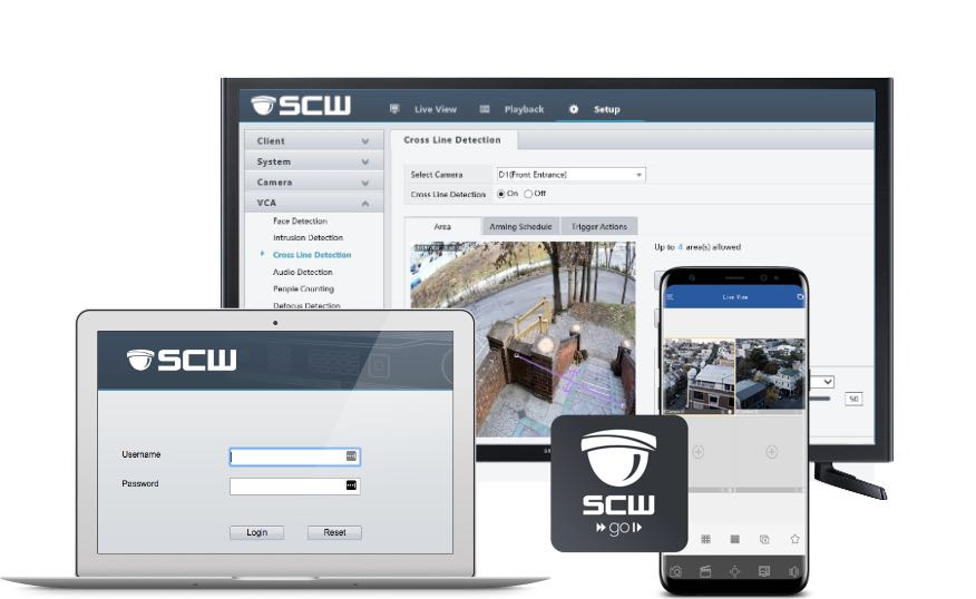 SCW Security Camera System Viewing Apps
