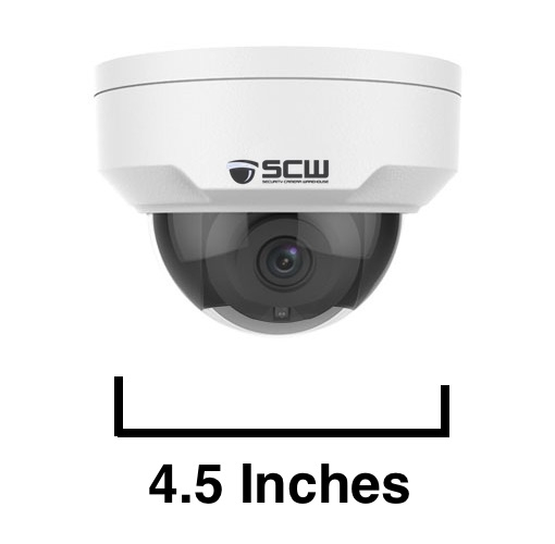The Sheriff 4.0  - 26DF4-IK10 - 4MP (2x1080P) Vandal Proof Fixed Wide Angle Lens IK10 Dome Camera