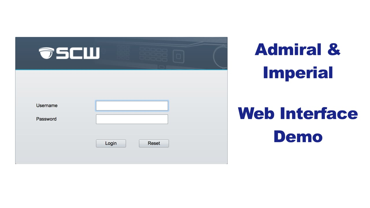 Admiral and Imperial Series Web Interface Demo