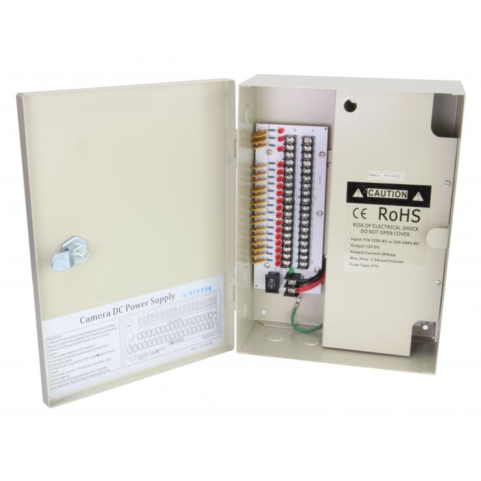 18 Port 25 Amp Power Distribution Box - SCW-PX-18P25A
