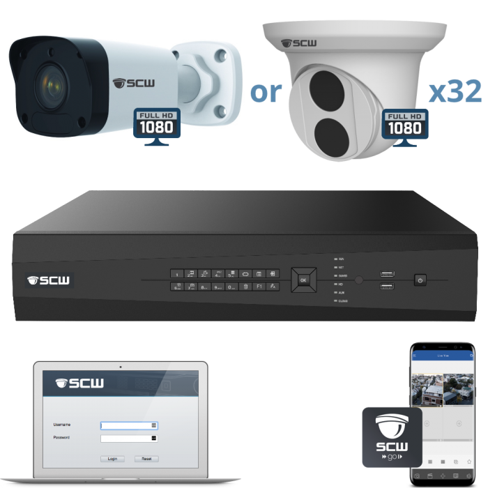 32 Camera 1080P Admiral Series