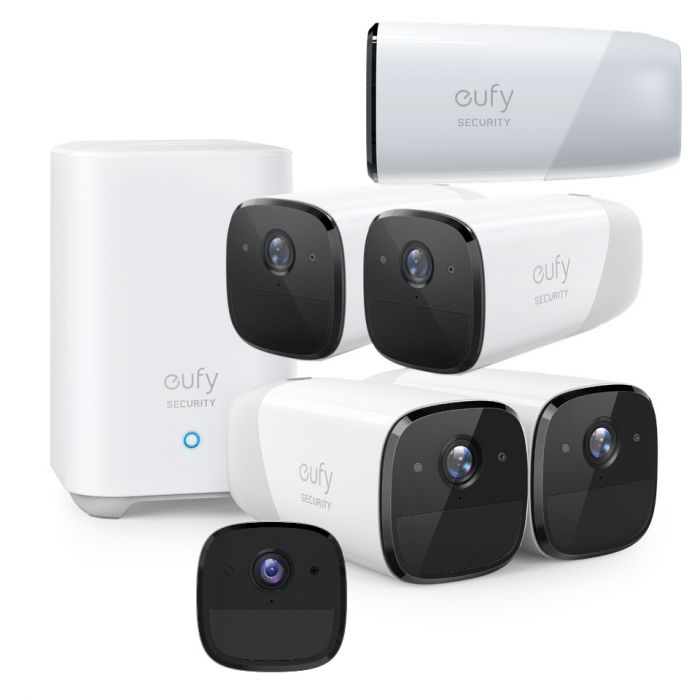 6 Camera EufyCam2 Wire-Free Battery Powered 1080p System