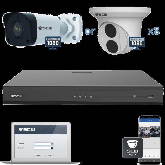 8 Camera 1080P Admiral Series