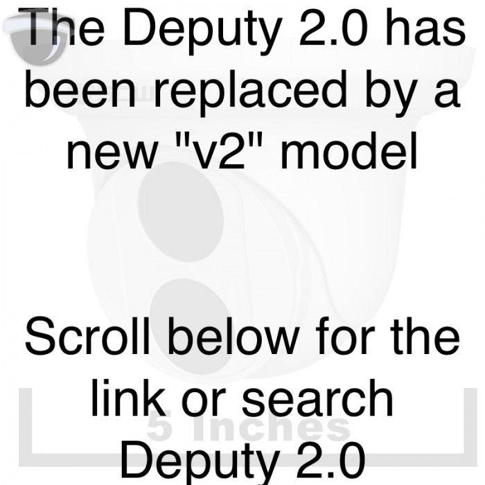 The Deputy 2.0 v1 - 26DF2 - 2MP (1080P) Fixed Wide Angle Lens Turret Dome Camera