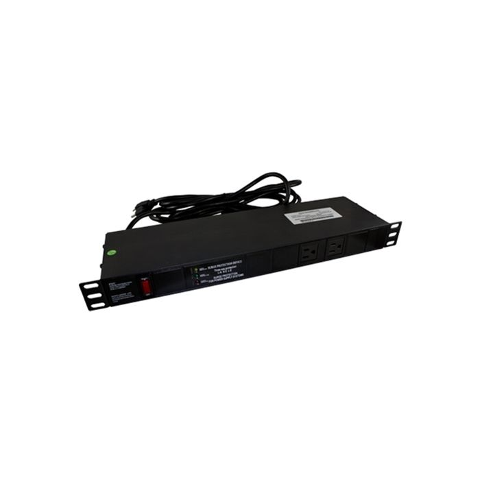 Rack Mount Power Distribution Unit with 10+2 AC Outlets 1U