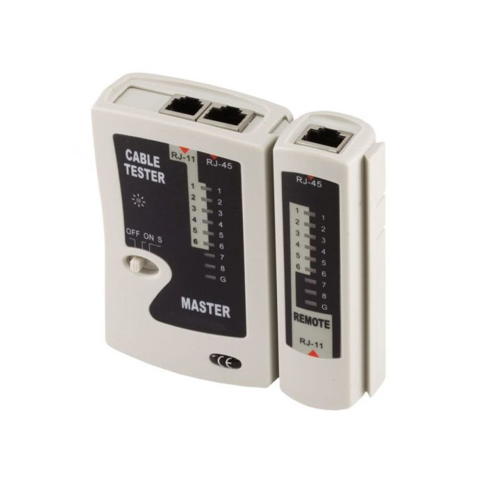 Ethernet RJ45 and RJ11 Cable Tester SCW-T108