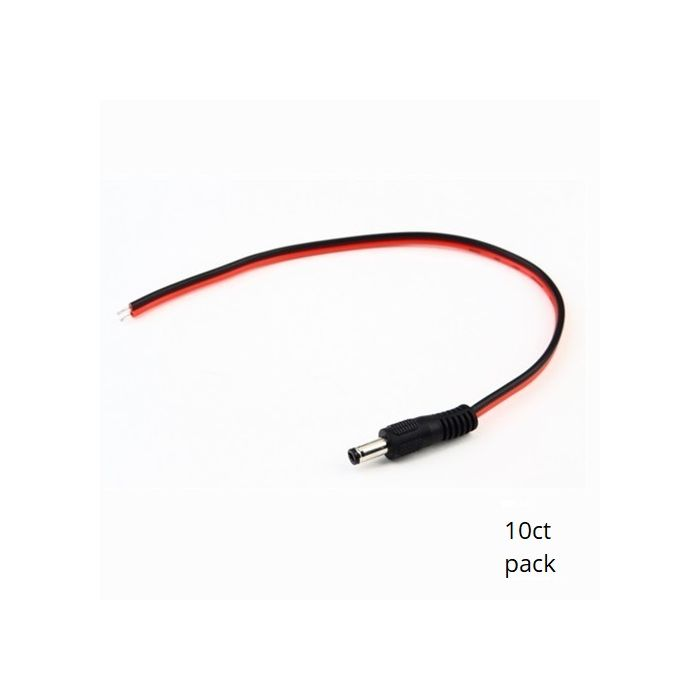 Pigtail Power Connectors Male (10pk) SCW-C201