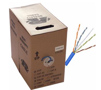 1000ft Network CAT5e, PVC, FULL COPPER (Commercial Grade) SCW-NCC-1000BL