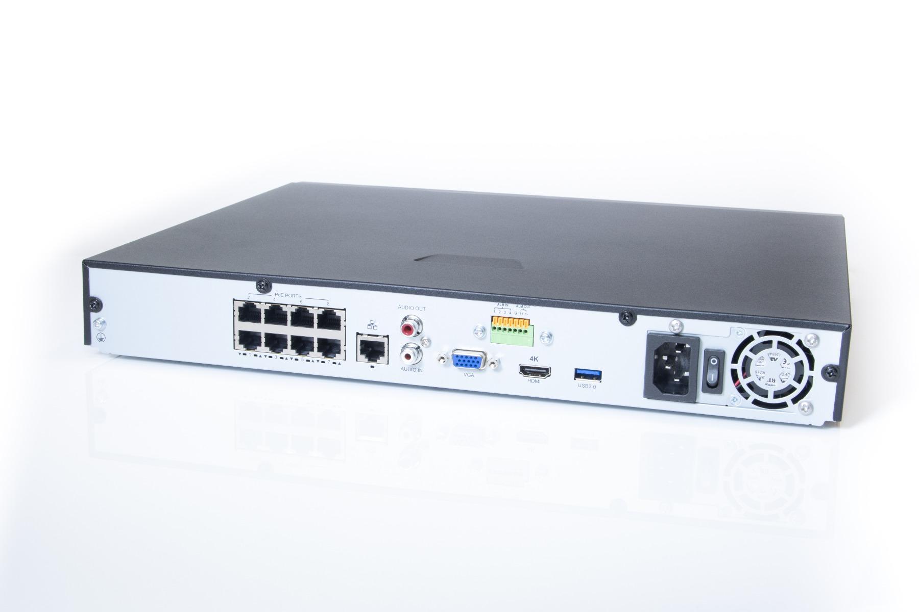 The Admiral 8 Channel 4K NVR v2 - ADM8P8-V2M
