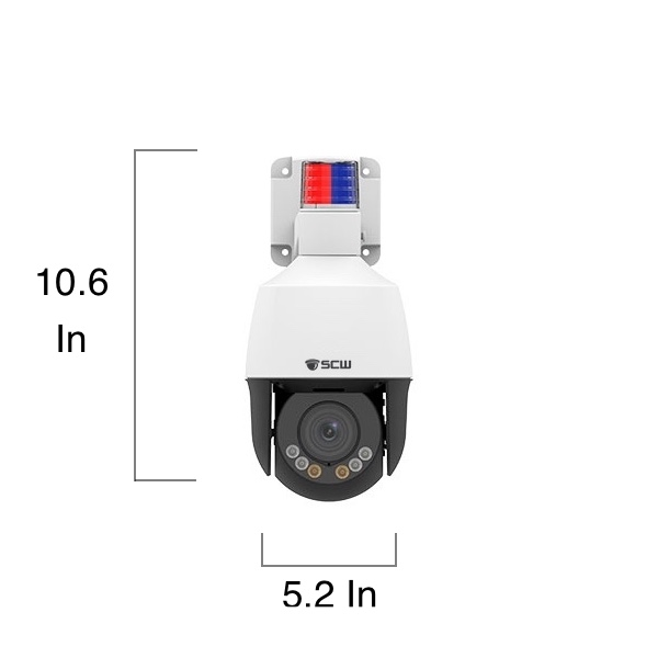 The Lookout 5.0 Mini - Mini PTZ with 4x zoom and active deterrence light