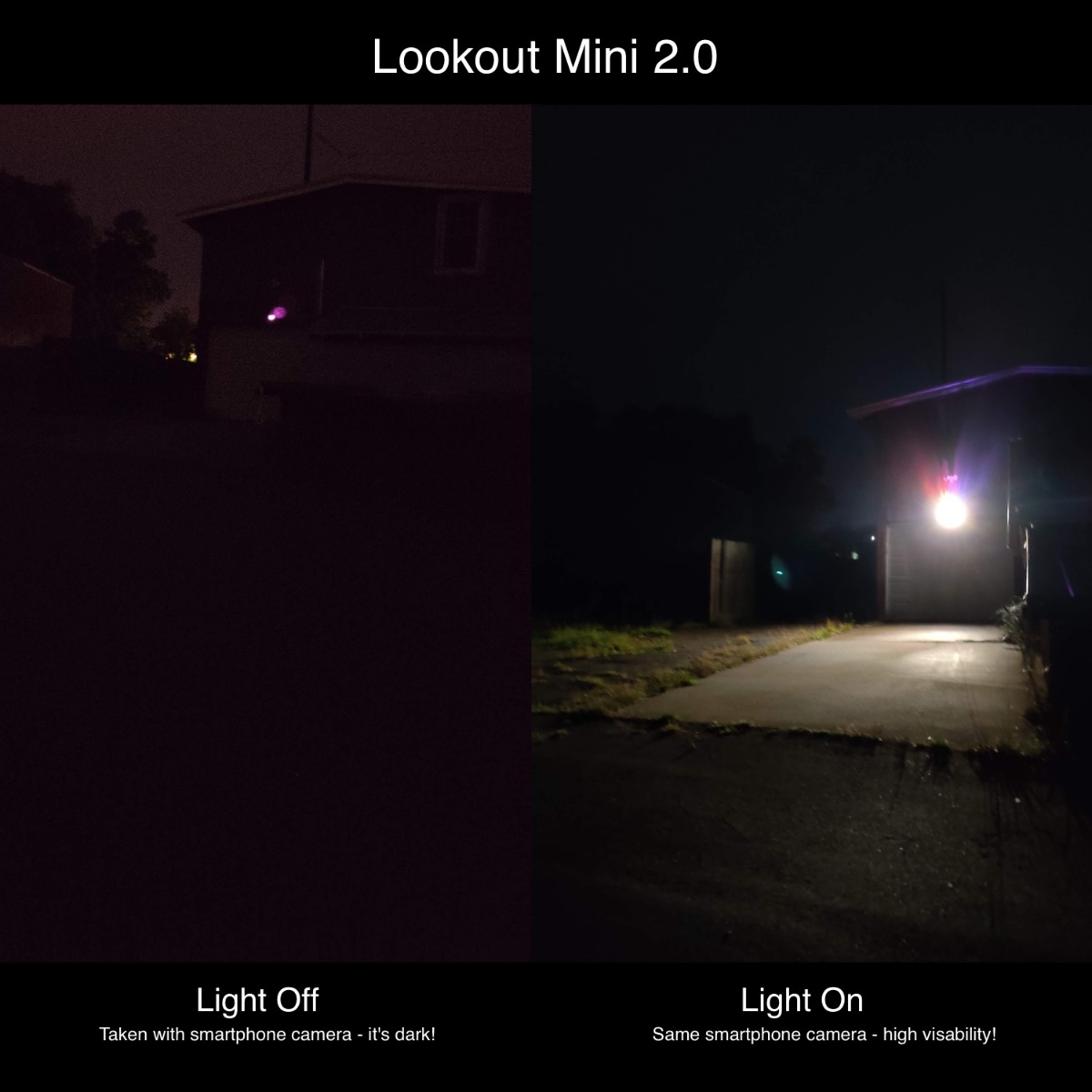 The Lookout 2.0 Mini Light Edition - Mini PTZ with 4x zoom and active deterrence