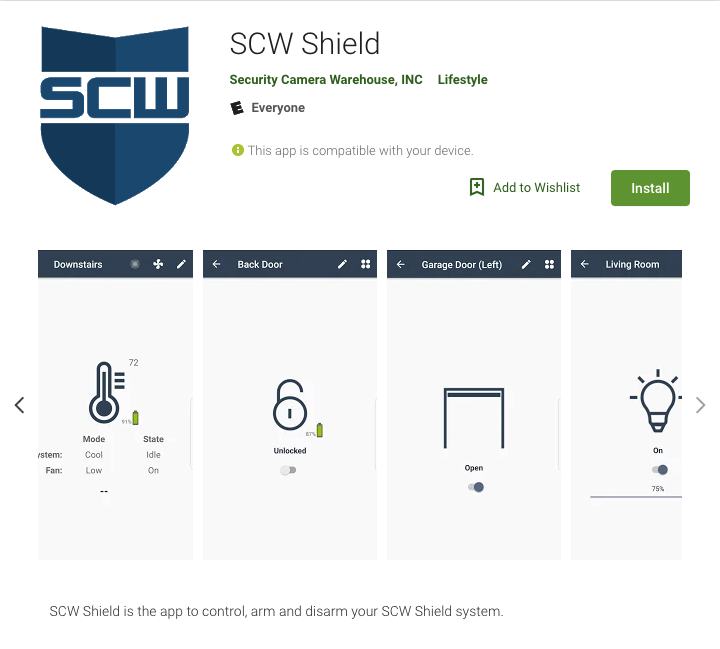 SCW Shield Alarm Hub and Pin Pad Bundles