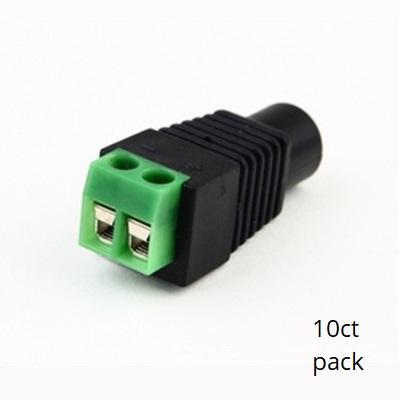 DC Power Connectors Clip on Design - Female (10pk) SCW-C204